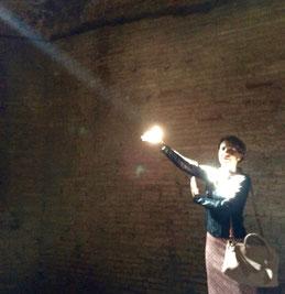 Giochi di luce alle Terme. Foto di Margherita Fabrizi.
