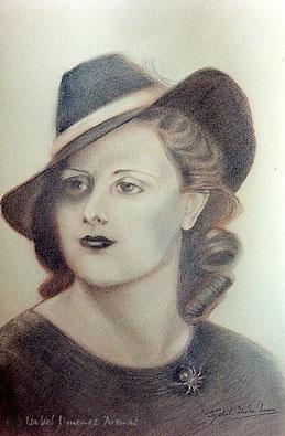 Retrato sobre papel Canson, 42 x 29,7 cm, 1998. Colección privada.