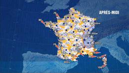 Carte météorologique du 25 décembre 1999