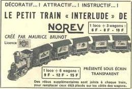 Publicité pour le modèle réduit du petit train (jouet)