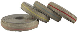 striped ribbon no. 15, narrow;  90% linen, 10% acrylic; width 1cm/ 0,8""