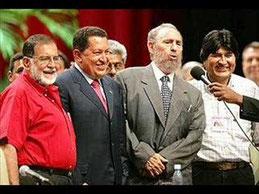 ( Lula – Chàvez – Castro)