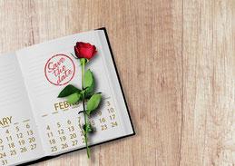 Save-the-date-Stempel für die Hochzeit