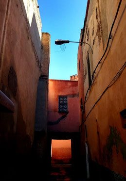 Narrow streets in Marrakesh