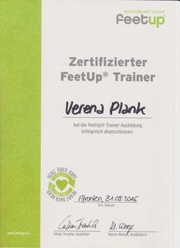 Zertifizierung FeetUp Trainer, Abschluss 2016