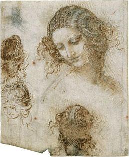 étude de Léda et le Cygne par Léonard de Vinci - 1503-1507