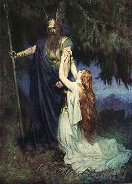 Ferdinand Leeke (1905): Brunhilde knelt at his feet