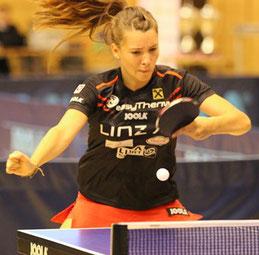 Karoline Mischek Tischtennisspielerin Leistungszentrum Linz Froschberg