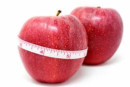 Apfel, Äpfel, Maßband
