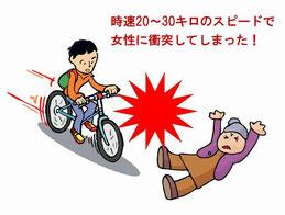 マウンテンバイクが衝突