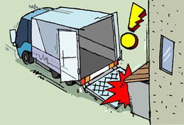 構内事故の危険