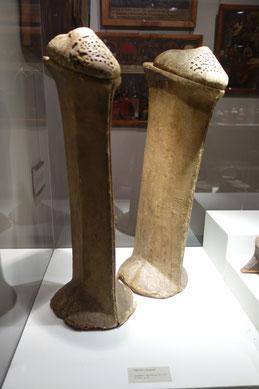Chopines, 15. oder 16. Jahrhundert, in Venedig gefertigt. Museo Correr, Venedig. Foto: Nina Möller - Renaissance Mode Schuhe