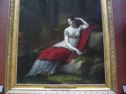 Detail: Josephine Bonaparte, 1805, Pierre Paul Prud'hon, Louvre. Foto: Nina Möller - Mode Empire Biedermeier