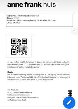 Online-Ticket Anne Frank-Haus