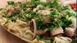 Beschparmak Kasachstan Küche Rezepte
