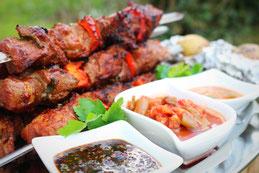 Koreanische Küche Schaschlik Spieße