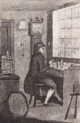 IMA.19.030 »Watch Maker« (auch: »Watchmaker«; Uhrmacher) (Kupferstich, 1805) / © Sammlung PRISARD