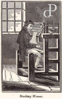 IMA.19.006 »Stocking Weaver« (Strumpfweber) (Holzstich, 1824) / © Sammlung PRISARD
