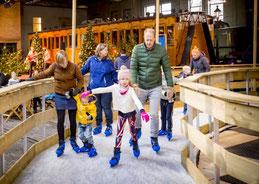Schaatsbaan gaat weer open in het Spoorwegmuseum