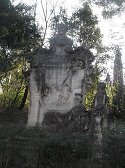 Buste de Rabelais, Jardin des plantes, Montpellier