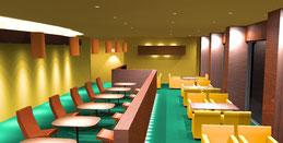 3DCG レストランンの照明デザイン