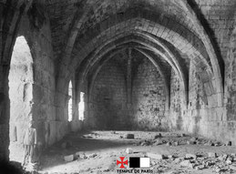 Salle voûtée en croisée d'ogives - Chastel Pèlerin - Athlit. Temple de Paris