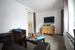 Ferienwohnung Muschel Wohnzimmer