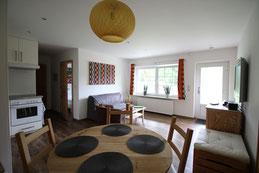 Ferienwohnung Seestern Wohnzimmer