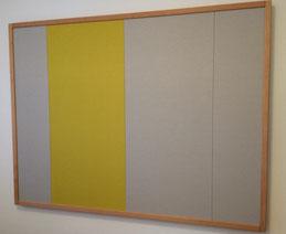 Schallabsorbierendes Wandpaneel 1,35 m mal 2,4 m in einem Büroraum