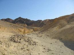 Desierto del Negev. Gran parte del territorio israelí es desértico.