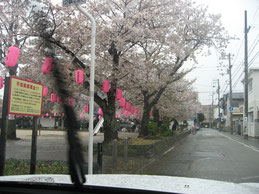 あ,雨だ〜!!車内より撮影
