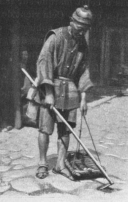 Yun-Nan-Sen, ramasseurs d'ordures, Labarthe, Dans les provinces du fond de la Chine.
