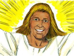 L'ange qui vient du soleil levant vient d'auprès de Dieu et tient le sceau du Dieu vivant livre de l'Apocalypse
