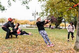 Fitnesskurs in der Beueler Rheinaue