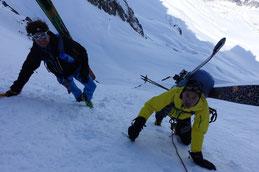 steiler Aufstieg zum Col de Talèfere