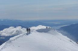 Südgrat am Weissmies 4021m, Blick bis Lago Maggiore