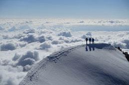 Letzter Firngrat vor dem Weissmies Gipfel