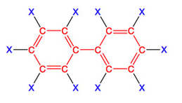 Chlorinated POP molecule PCB