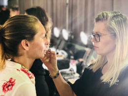 Viktoria Georgina, shooting, fotoshooting, makeup, schminken, modell, makeup artist, backstage, behind the scenes, makeup editorial, new York fashion week