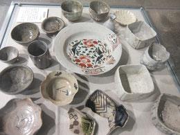 堀から出土した陶磁器類