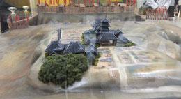 一心寺と四天王寺、木々の茂る場所が茶臼山