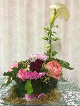 Note fleurie de Jeannine Cottet