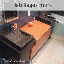 Habillage murs de salle de bain en pierre - Tout en Pierre - Yannick Valente - Var