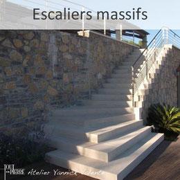 Escalier massifs en pierre -  Yannick Valente - Tout en  pierre (Var 83)