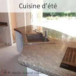 Cuisine d'été en pierre - Tout en pierre - Yannick Valente - Var