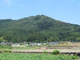 国道沿いの山