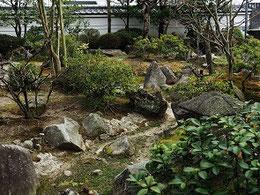 被災前の庭