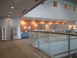 NHK広島放送センター二階のギャラリー