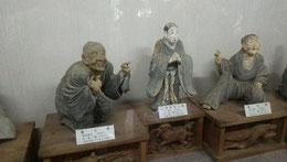 戸田神社の宝物殿の木像 津和野の名工・大島常一作 この時使ったのみは他に使わず 自分の墓にいれたという