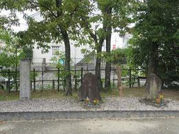 「今川義元戦死之地」の石碑
